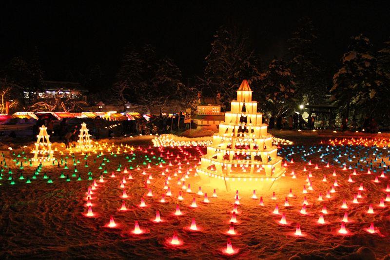 上杉雪灯篭まつり キャンドルゾーン